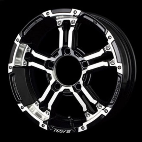 RAYS DAYTONA FDX-J set of Wheels for Jimny Black Diamond Cut