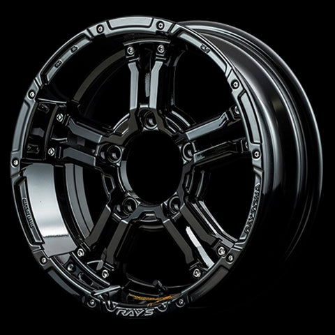 RAYS DAYTONA FDX-J set of Wheels for Jimny Black Collection