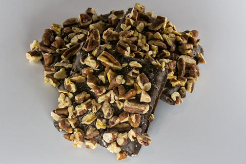 Dark Chocolate Pecan Toffee - Mouses Chocolates & Coffees