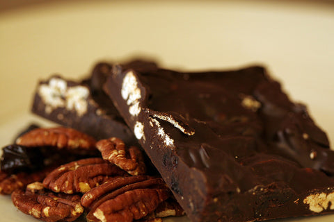 Dark Chocolate Pecan and Dried Cherry Bark