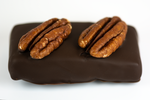 Dark Chocolate Pecan Turtle - Mouses Chocolates & Coffees