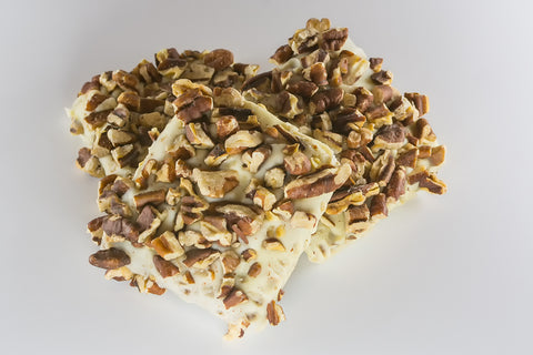 White Chocolate Pecan Toffee - Mouses Chocolates & Coffees