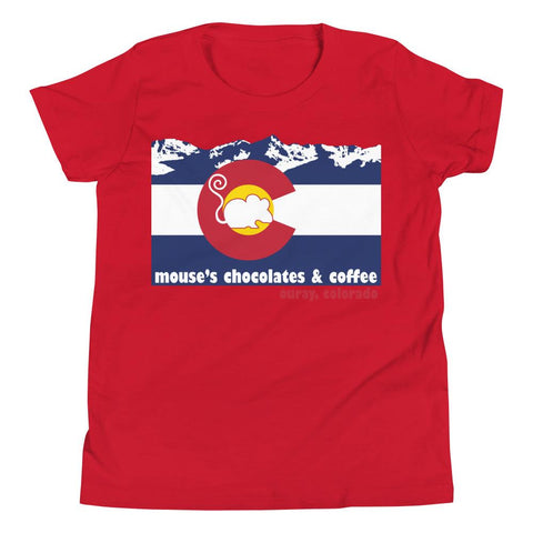 Mouses Colorado Youth Short Sleeve T-Shirt - Mouses Chocolates & Coffees