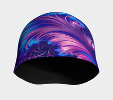Charger l'image dans la galerie, #fractalcaps Vibe Blue Beanie Eco-Poly/Spandex w/ Bamboo Rayon
