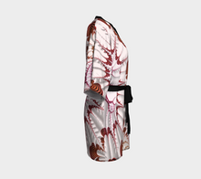 Load image into Gallery viewer, #fractalwraps Rose Tip Feather Custom Kimono Robe