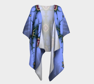 Fractal WRAPS Unique Periwinkle Custom Draped Kimono