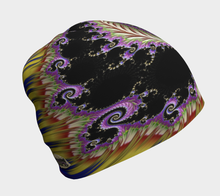 Load image into Gallery viewer, #fractalcaps Purple Groove Baby/Youth/Adult Beanie