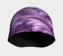 Load image into Gallery viewer, #fractalcaps FAB Vibe Purple Beanie Eco-Poly/Spandex w/ Bamboo Rayon