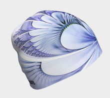 Load image into Gallery viewer, #fractalcaps Fluid Periwinkle Beanie Eco-Poly/Spandex w/ Bamboo Rayon