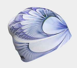 #fractalcaps Fluid Periwinkle Beanie Eco-Poly/Spandex w/ Bamboo Rayon