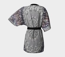 Load image into Gallery viewer, #fractalwraps Lavender Lace Custom Kimono Robe