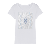 Load image into Gallery viewer, Blue White Cloud Organic Jersey Womens T-Shirt