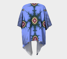 Load image into Gallery viewer, Fractal WRAPS Unique Periwinkle Custom Draped Kimono