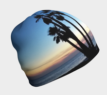 "Load image into Gallery viewer, Fractal CAPS Beanie in ""Dana Point Beanie"" Blue w/ Bamboo Rayon Liner"