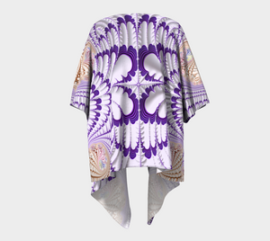 #fractalwraps Purple Tip Feather Custom Draped Kimono
