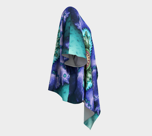 #fractalwraps Bright Purple Green Custom Draped Kimono
