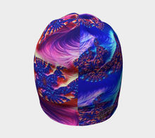 Charger l'image dans la galerie, #fractalcaps Rad Alchemy Blue Beanie Eco-Poly Spandex w/ Bamboo Rayon