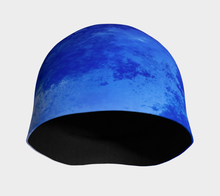 Load image into Gallery viewer, #fractalcaps Motion Blue Beanie Eco-Poly/Spandex w/ Bamboo Rayon