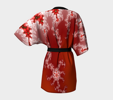 Load image into Gallery viewer, #fractalwraps Ice White Sunset Custom Kimono Robe
