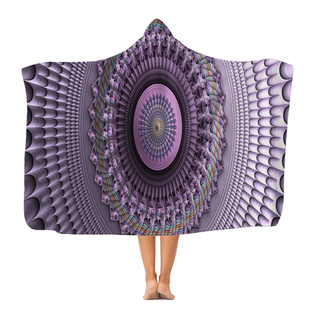 #fractalhouse Mindscape Purple Classic Adult Hooded Blanket
