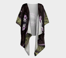 Load image into Gallery viewer, Fractal WRAPS Unique Chocolate Custom Draped Kimono