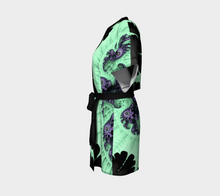 Load image into Gallery viewer, Fractal Wraps Ice Green Queen (Youth, Adult) Custom Kimono Robe