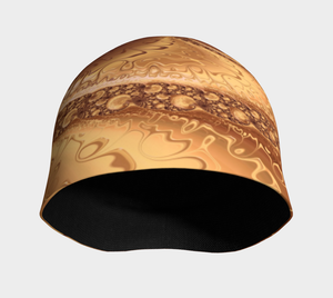#fractalcaps Wave Copper Beanie Eco-Poly/Spandex w/ Bamboo Rayon