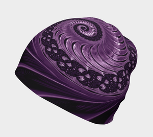 #fractalcaps Purple Twist Baby/Youth/Adult Beanie