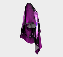 Load image into Gallery viewer, #fractalwraps Purple Pink Unique Custom Draped Kimono