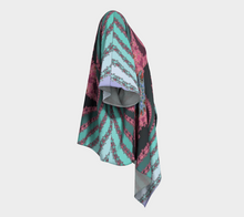 Load image into Gallery viewer, #fractalwraps Rose Teal Spiral Custom Draped Kimono