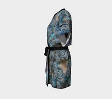 Load image into Gallery viewer, #fractalwraps Blue Tan Sand Custom Kimono Robe