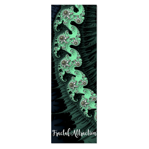 #fractalmats Sheers Max Grip Custom Yoga Mat with Strap Dark Green/|Light Green