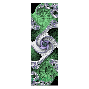 #fractalmats Elite Green Custom Yoga Mat with Strap