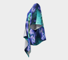 Load image into Gallery viewer, #fractalwraps Bright Purple Green Custom Draped Kimono