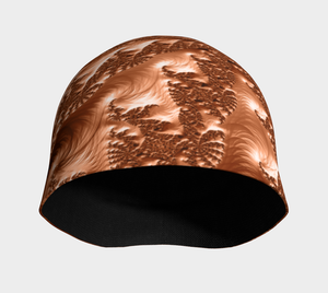 "FAB Alchemy Copper ""Fractal CAPS"" Beanie w/ Bamboo Rayon Liner"