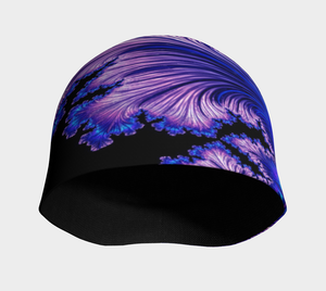 "FAB Beauty Blue ""Fractal CAPS"" Beanie w/ Bamboo Rayon Liner"