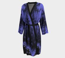 Load image into Gallery viewer, #fractalwraps Calm Periwinkle Peignoir Robe