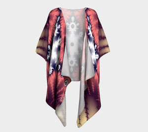 #fractalwraps Rose Diamond Custom Draped Kimono