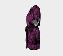 Load image into Gallery viewer, #fractalwraps Purple Grace Custom Kimono Robe