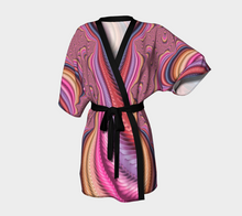 Load image into Gallery viewer, #fractalwraps Glow Pink Custom Kimono Robe
