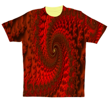 Load image into Gallery viewer, Red Roads #fractalfashion Performance Adult T-Shirt