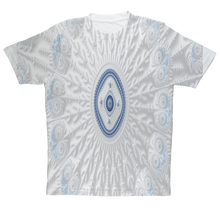 Charger l'image dans la galerie, Blue White Cloud 69th Power #fractalfashion Adult T-Shirt