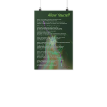 "Load image into Gallery viewer, Reality Rhymes ""Allow Yourself"" Poster (2 Sz)"