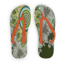 Load image into Gallery viewer, Olive Solar Adult Flip Flops