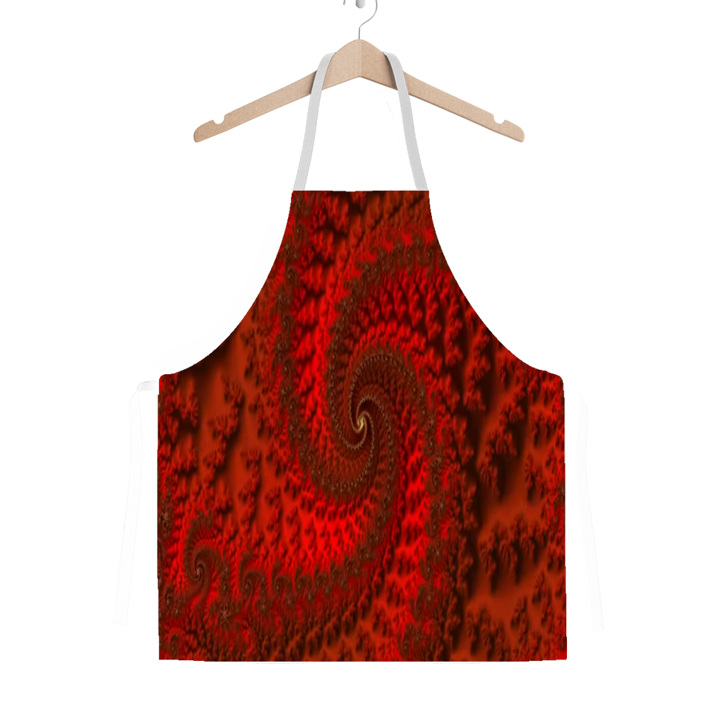 Red Roads #fractalfashion Adult Apron