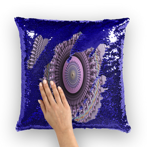 Mindscape Purple Sequin Cushion Cover