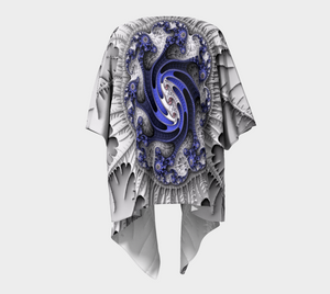 Fractal Wraps Blue Ice Queen 2 Custom Draped Kimono by Fractal Attraction