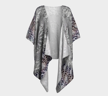 Load image into Gallery viewer, #fractalwraps Lavender Lace 2 Custom Draped Kimono