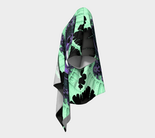 Load image into Gallery viewer, #fractalwraps Ice Green Queen 2 Custom Draped Kimono