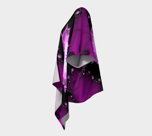 #fractalwraps Purple Pink Unique Custom Draped Kimono